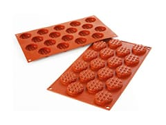 Moule silicone 18 mini-gaufres rondes