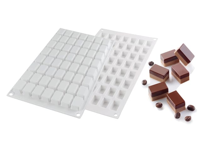 Moule silicone 56 micro rectangles - 30 x 17,5 cm - Silikomart