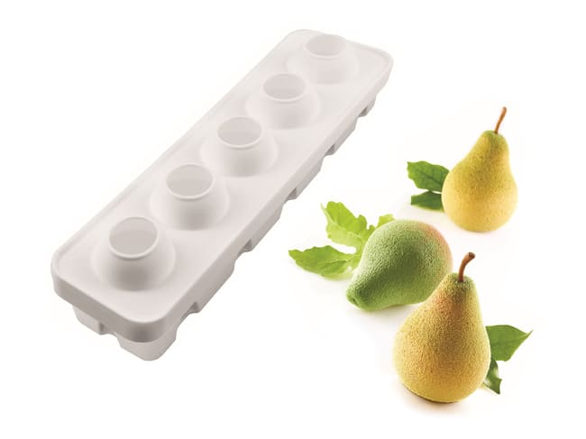 Moule silicone fruits poire figue - 40 x 10 cm - Silikomart