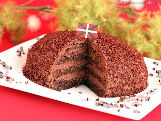 beret basque dessert au chocolat
