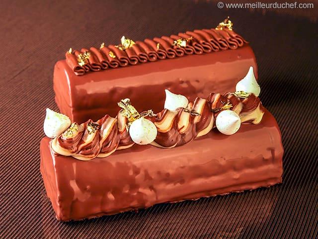 Buche de noel au deux chocolat