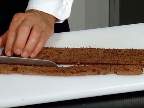 Buche aux 2 chocolats et poire
