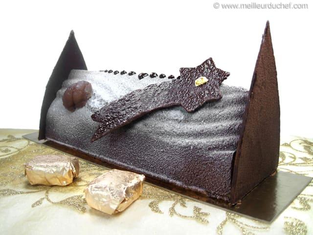 B che de no l marron chocolat la recette avec photos for Buche de noel chocolat marron