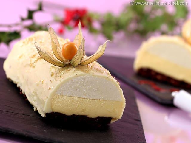 Buche de noel facile et rapide chocolat blanc