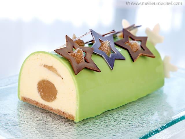 7ab496e93ae267 Bûche de Noël à la pomme Granny Smith - Recette de cuisine illustrée ...