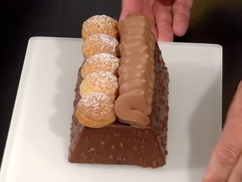 Bûche Saint Honoré brownie - 89
