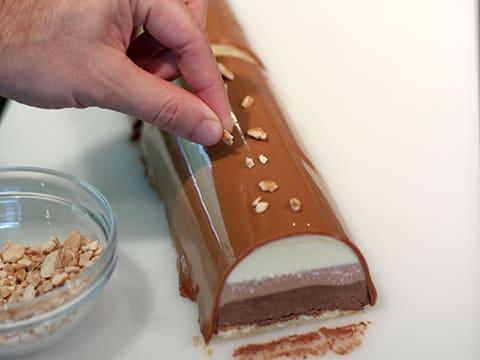 Buche boules de noel aux trois chocolats