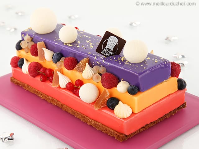 Bûche de Noël 3 fruits