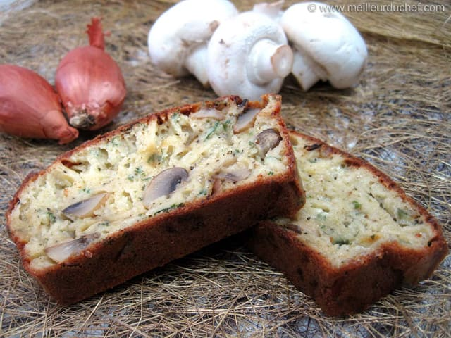 Cake Aux Champignons Fromage Sans Oeuf