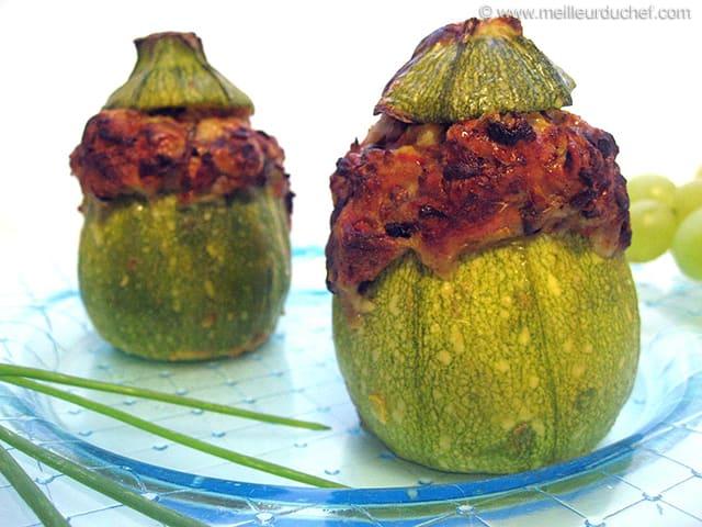 Courgette farcie recette de cuisine avec photos - Recette courgette farcie riz ...