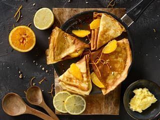 Crêpe au beurre d'orange