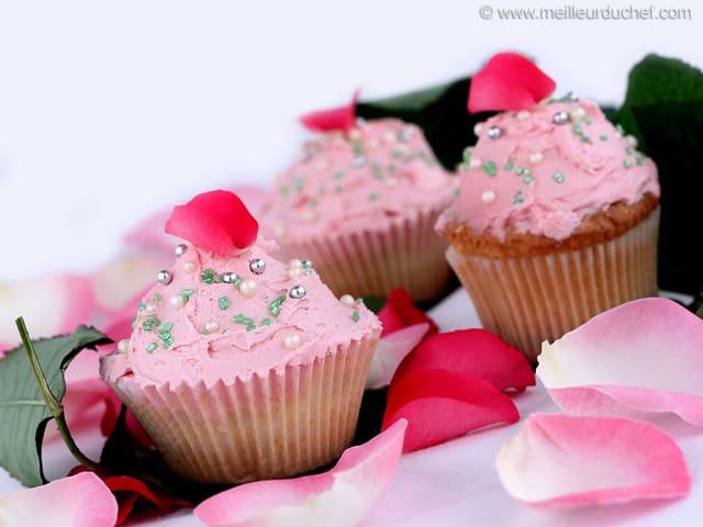 Cupcakes la rose fiche recette illustr e - Recette de cupcake facile ...