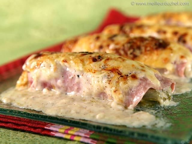 Endives au jambon fiche recette avec photos - Recette endives au jambon ...