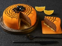 Entremets d'Halloween au chocolat et à l'orange