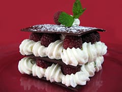 Mille-feuille chocolat/framboise