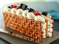 Mille-feuilles chantilly aux fruits rouges