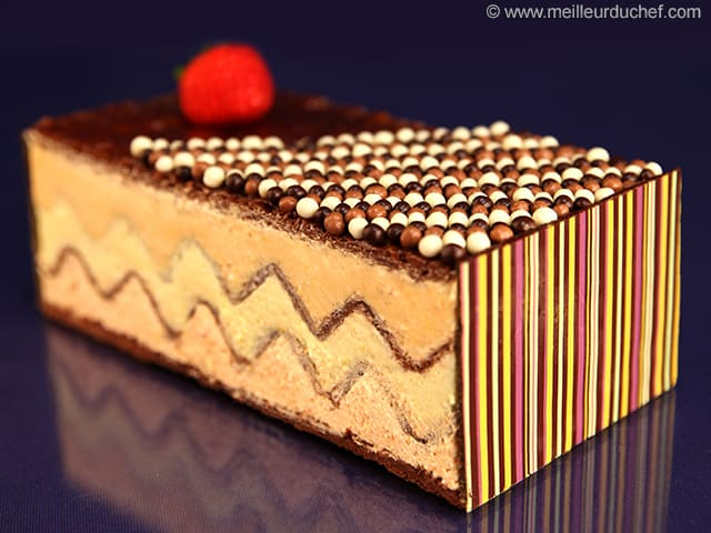 Mille-feuille chocolat agrumes