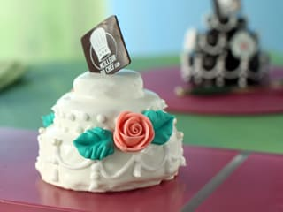 Mini wedding cake à la pistache