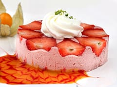 Mousse à la fraise et sa chantilly