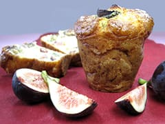Muffin jambon et figues