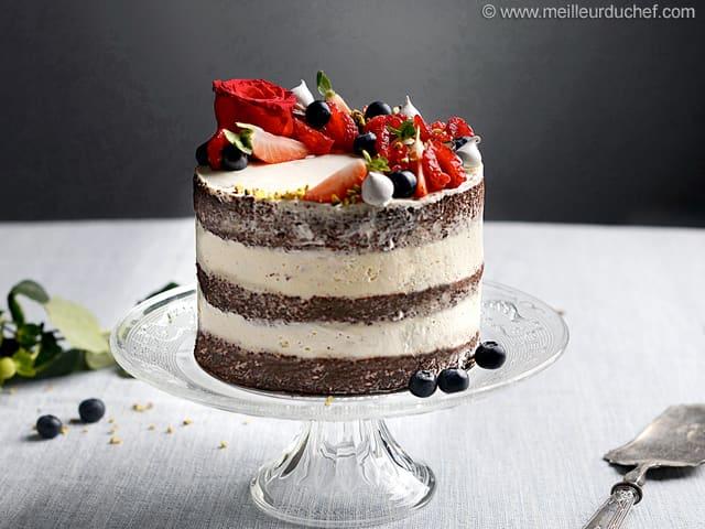 Naked Cake Notre Recette Illustree Meilleurduchef Com