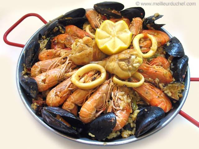 Paella la recette illustr e le plat espagnol - Recette de la paella espagnole ...