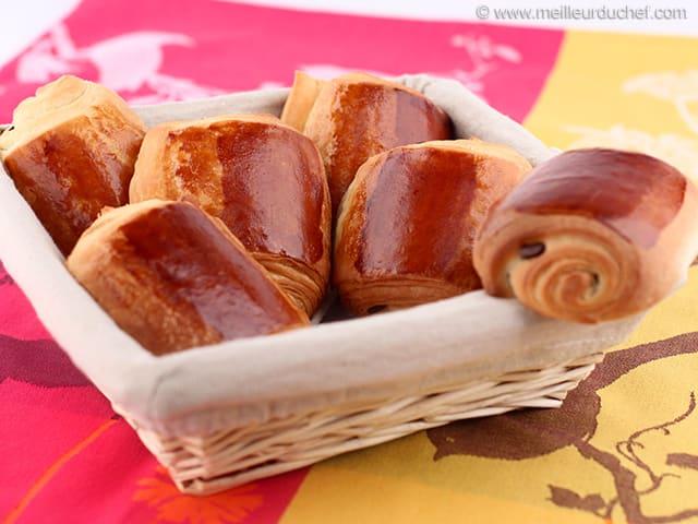 Vente de petit pain au chocolat