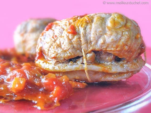 Paupiette de veau la tomate fiche recette - Cuisiner des paupiettes ...