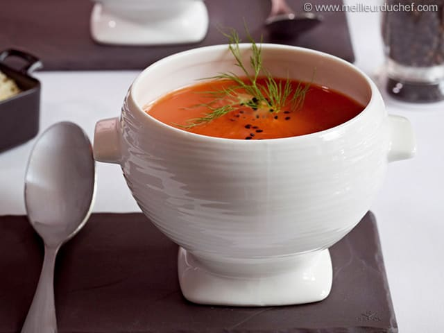 potage de tomates recette de cuisine illustr e. Black Bedroom Furniture Sets. Home Design Ideas