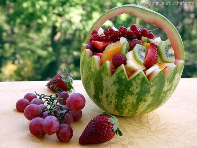 salade de fruits frais fiche recette illustr e. Black Bedroom Furniture Sets. Home Design Ideas