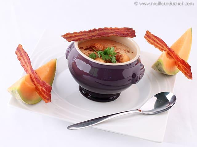 soupe de melon la recette. Black Bedroom Furniture Sets. Home Design Ideas