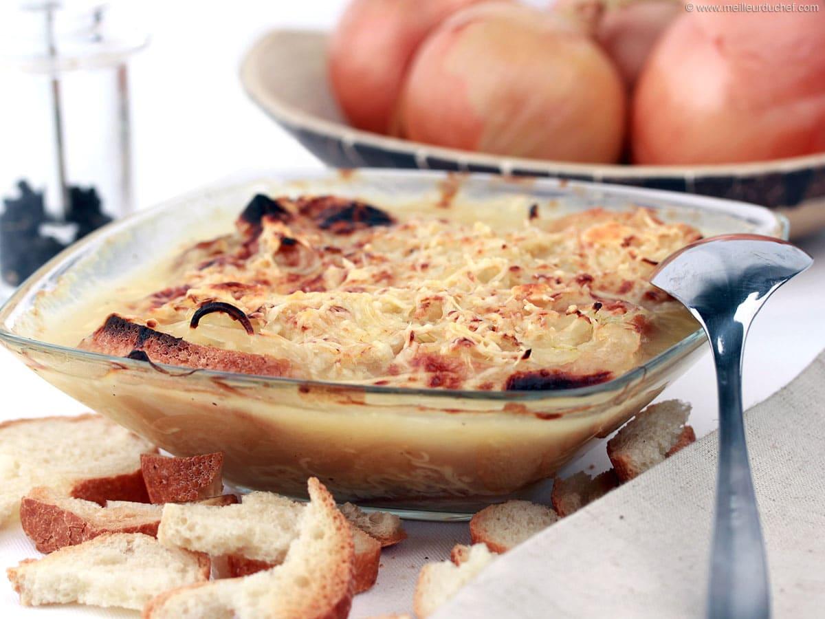 Soupe à l'oignon - Recette de cuisine avec photos..