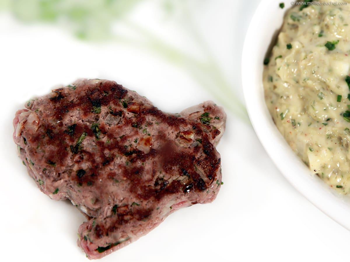 Steak Hache Sauce Tartare Recette De Cuisine Avec Photos