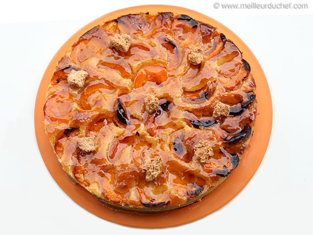 tarte abricots aux amandes la recette illustr e. Black Bedroom Furniture Sets. Home Design Ideas
