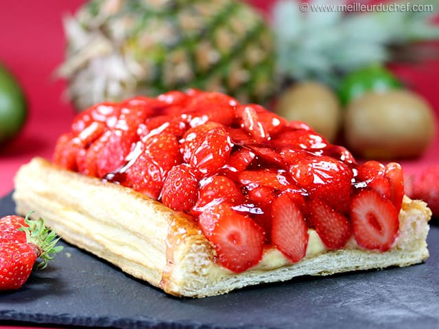 tarte aux fraises fiche recette avec photos. Black Bedroom Furniture Sets. Home Design Ideas