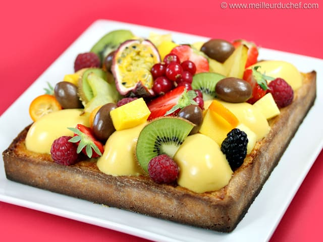tarte aux fruits exotiques recette de cuisine avec photos. Black Bedroom Furniture Sets. Home Design Ideas