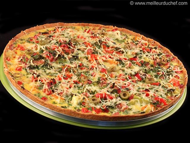 Tarte aux l gumes recette de cuisine - Recette de cuisine simple avec des legumes ...