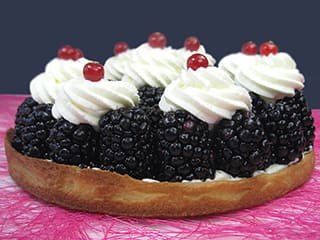 Tarte aux mûres chantilly