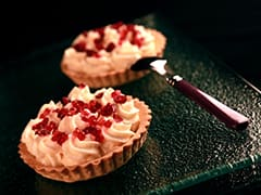 Tartelette citron cranberries