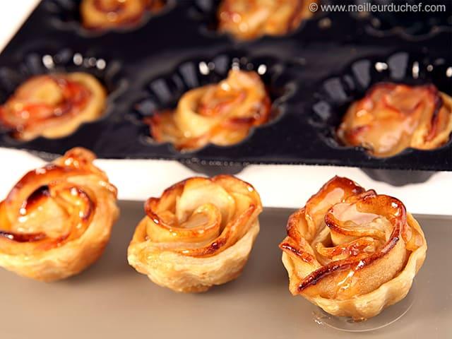 tartelettes pommes, façon fleur - notre recette illustrée