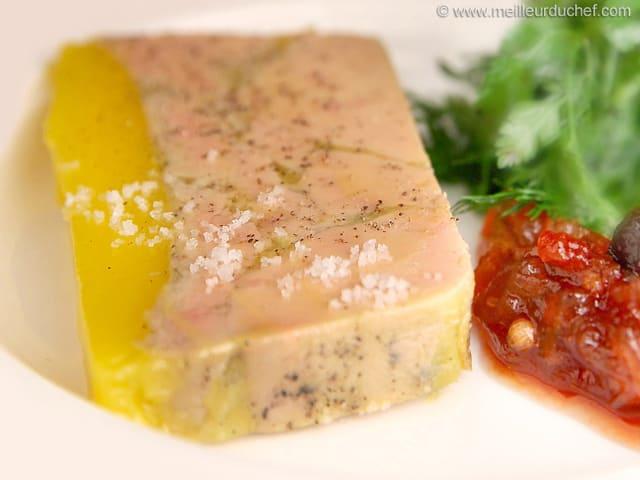 Terrine de foie gras mi cuit et son chutney d 39 chalotes et raisins la r - Faire son foie gras en bocaux ...