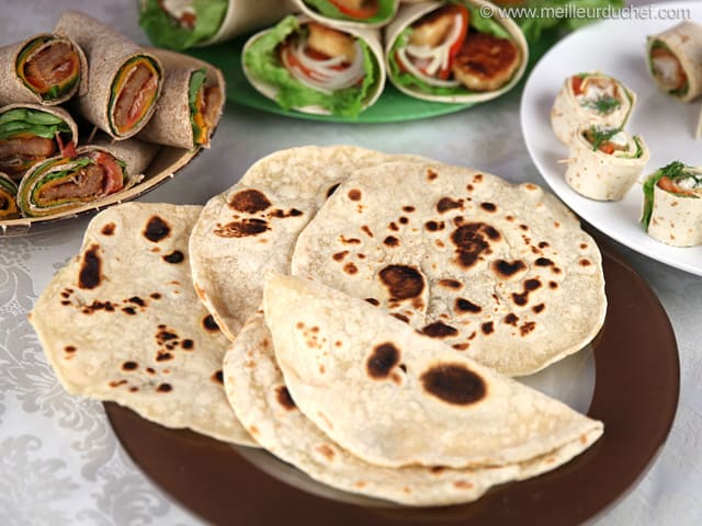 Tortillas de blé souples