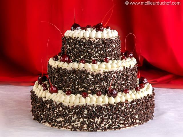 For t noire fa on wedding cake recette de cuisine avec photos - Recette gateau foret noire ...