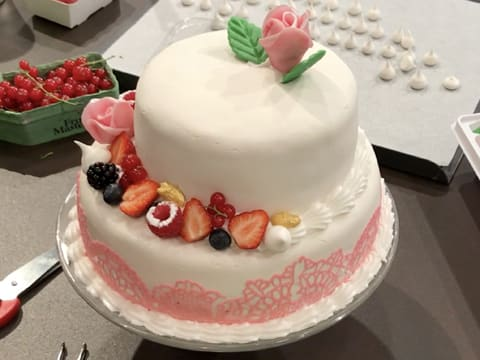 Wedding cake vanille/framboise - 144