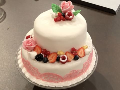 Wedding cake vanille/framboise - 145