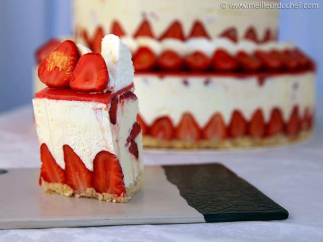 Fraisier Facon Wedding Cake Fiche Recette Avec Photos Meilleur Du Chef