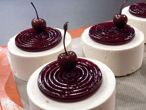 Almond & Morello Cherry Entremets - 52