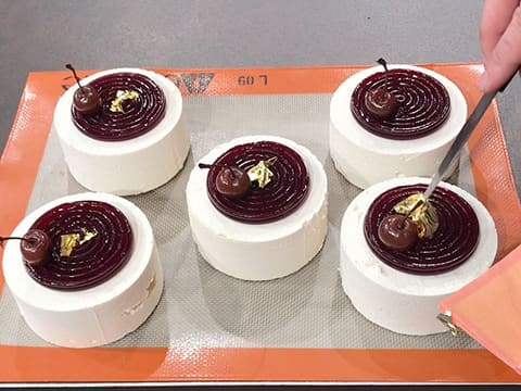 Almond & Morello Cherry Entremets - 53