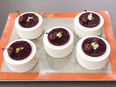 Almond & Morello Cherry Entremets - 54