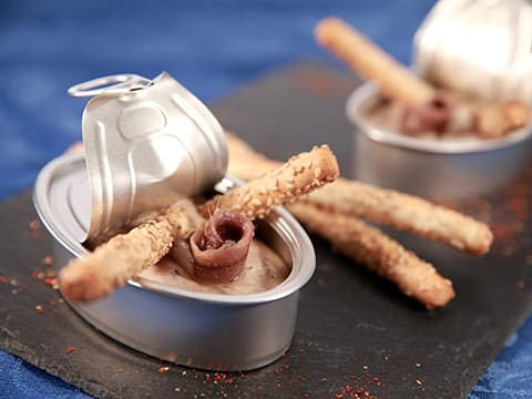 Anchovy Mousse with Sesame Grissini - 37